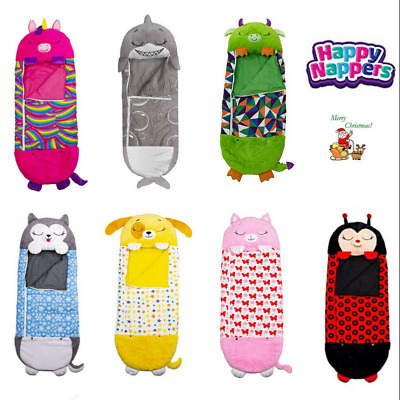 AU35.68 • Buy 2021 Happy Nappers Sleeping Bag Kids Play Pillow Unicorn Xmas Gifts Small Size