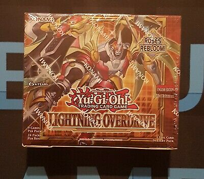 £56.95 • Buy Lightning Overdrive Booster Box Of 24 Packs - Sealed - LIOV - 1st Edition YuGiOh