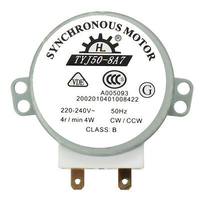 £3.35 • Buy CW/CCW Microwave Turntable Turn Table Synchronous Motor TYJ50-8A7D Shaft 4RPM PM