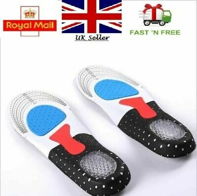 £2.75 • Buy Orthotic Shoe Insoles For Arch Support Plantar Fasciitis Flat Feet Heel Pain