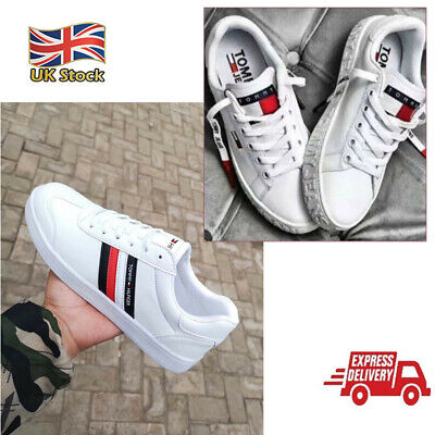 £20.99 • Buy Tommy Jeans Sneaker Running Sport Casual Shoes Womens Unisex White Trainers
