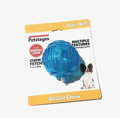 £9.93 • Buy Petstages Orka Ball Fetch & Play Multiple Textures Massages Gums Dental Chew