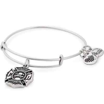 AU20.37 • Buy Alex And Ani Firefighter Occupation Silver Charm Bangle