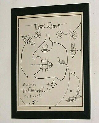 £13.99 • Buy THE CURE Framed A4 1984 `the Caterpillar` SINGLE Original Band Promo ART Poster
