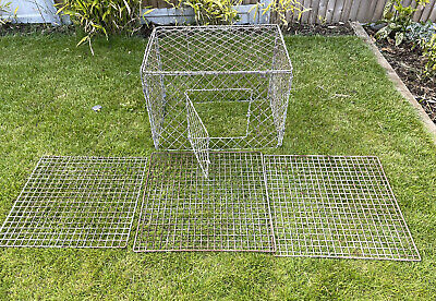 £49.99 • Buy Vintage Foldable Galvanised Poultry Chicken & Pet Animal Cage Pen Farm Garden