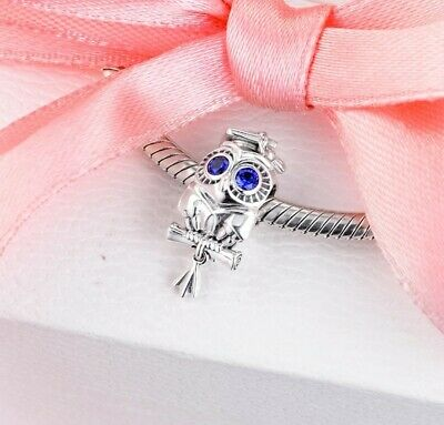 £10.99 • Buy Special Graduation Owl Cute Sterling Silver S925 Pandora-fit Charm Gift