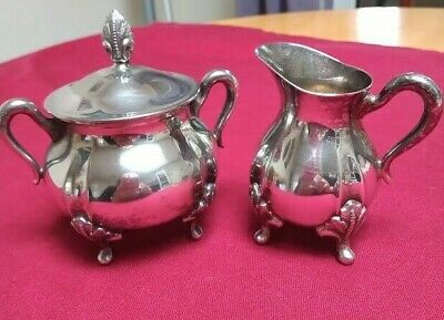 £5 • Buy Silver Plated Jug And Sugar Bowl With Lid By Viners Of Sheffield