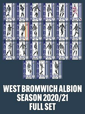 £25 • Buy 20/21 West Bromwich Albion HOME Programmes - FULL SET