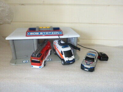 £20 • Buy Chad Valley Lights And Sound Sos Station Vehicles Police Fire Ambulance Garage