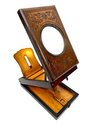 £249 • Buy Antique Wooden Graphoscope / Stereo Card Picture Viewer / Victorian Stereoscope