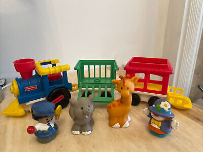 £9.99 • Buy Fisher Price Train Set 1991 With 2 Animals And 2 Figure Vintage Push Along Clown