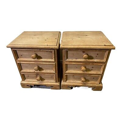 £125 • Buy Pair Antique Pine Bedside Tables, Cabinets