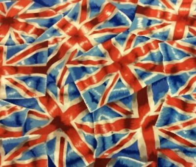 £15 • Buy Nutex Fabric Union Jack 100% Cotton - Red White Blue Cross - Quilting Sewing