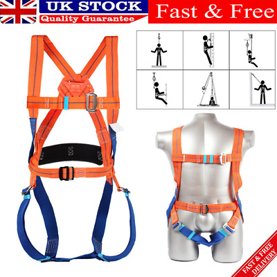 £21.99 • Buy 5 Point Fall Arrest Safety Harness Scaffold Construction Work Protection Harness