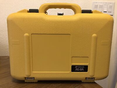 £71.92 • Buy Topcon RC-5A Robotic Total Station HARD CARRYING CASE ONLY JAPAN YELLOW