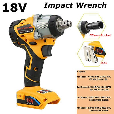 £58.99 • Buy Cordless Brushless Impact Wrench Drill Replace For Dewalt 18V XR 1/2  4 Speed