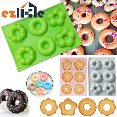 AU9.45 • Buy Silicone Mould Muffin Chocolate Doughnut Ice Cube Mold Cake Baking Donut Tray