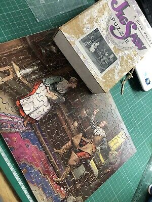 £25 • Buy Rare VINTAGE CHAD VALLEY WOODEN JIGSAW PUZZLE The Interloper 200 Pieces 1930s