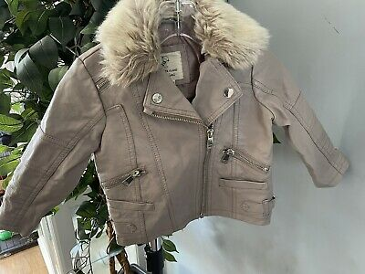 £7 • Buy Baby Girls Age 18-24 Months River Island Leather Jacket