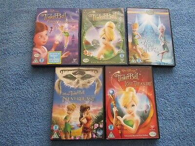 £9.99 • Buy Disney's Tinkerbell Dvd Bundle - Lost Treasure, The Great Fairy Rescue And More
