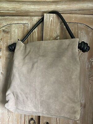 £70 • Buy Plumo Leather Suede Bag By Beck Sondergaard Oversized Tote Style New With Tags
