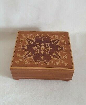 £25 • Buy Vintage Reuge Swiss Movement Music Inlaid Wooden Music Box