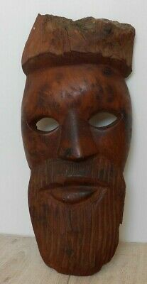 £2.99 • Buy Vintage Carved Wooden Face Mask Tribal African Collectable Wall Hanging