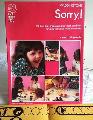 £25 • Buy Sorry! Fun Children's Board Game By Waddingtons - Good Condition And Complete