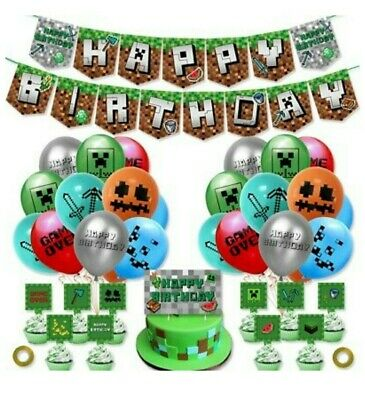 AU18.80 • Buy Minecraft Balloons And Banner Set