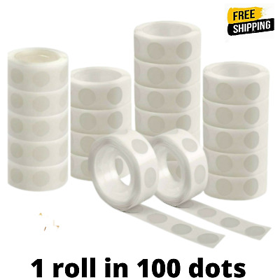 £2.50 • Buy 100 Adhesive Dots Tape Double Sided Glue Sticky Sticker DIY Balloon Clear Decor