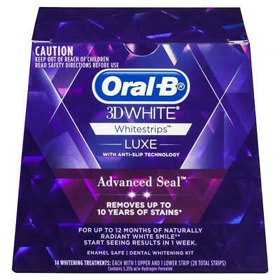 AU34.95 • Buy Oral B 3D White Luxe Advanced Seal Teeth Whitening White Strips 14 Pack