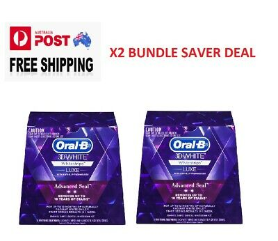 AU63.27 • Buy Oral B 3D White Luxe Teeth Whitening Strips 14 Pack X2   BUNDLE SAVER DEAL