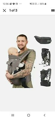£15 • Buy Sweety Fox - Multi-Position Baby Carrier With Hip Seat - For Babies & Child Grey
