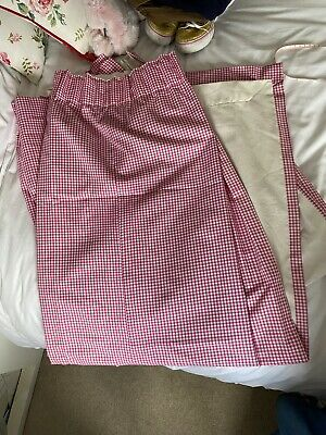 £10 • Buy Gingham Pink And White Curtains 128x160cm