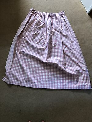 £20 • Buy Laura Ashley Pink Gingham Hand Made Black Out Lined. Pair Of Curtains