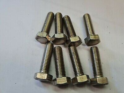 $4.85 • Buy 8 X M12 By 40mm -  A4-80 STAINLESS STEEL HEX HEAD BOLTS - FREE UK P&P
