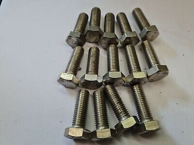 $6.24 • Buy 14 X M12 By 35mm -  A4-80 STAINLESS STEEL HEX HEAD BOLTS - FREE UK P&P