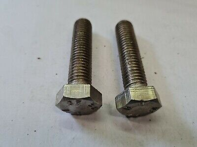 $2.77 • Buy 2 X M12 By 50mm -  A4-80 STAINLESS STEEL HEX HEAD BOLTS - FREE UK P&P