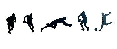 £4.50 • Buy Rugby Player Wall Art Vinyl Decals / Stickers - Various Colours And Sizes