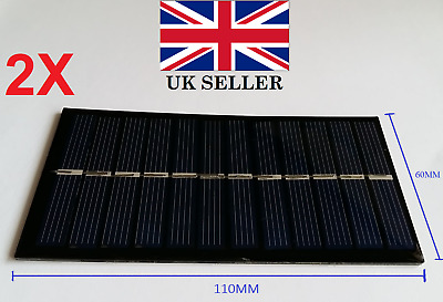 £6.60 • Buy 2PCS Of 6V 1W Solar Power Panel For Any DIY Projects