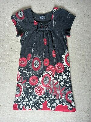 £5.99 • Buy Apricot Desigual-Style Women's Tunic Top Grey Red Size M Very Good Condition