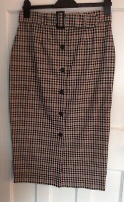 £3 • Buy Checked Pencil Skirt Primark Size 12