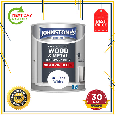 £8.49 • Buy Johnstone's 306533 Non Drip Gloss Paint - Brilliant White 750ml Free Delivery UK