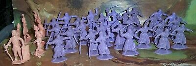 £17.75 • Buy Timpo Toys Solid Plastic Arab Warriors In Lilac & Probable Roman Plastic Figures