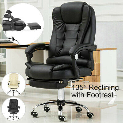 £75.99 • Buy Luxury Leather Office Chair Massage Computer Gaming Swivel Recliner Executive