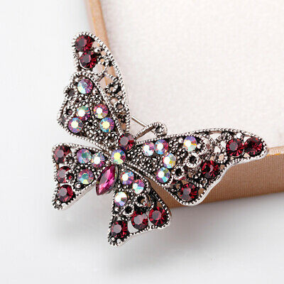 £4.38 • Buy Crystal Brooch Pins Dragonfly Butterfly Brooches Jewelry Wedding Party Gift*