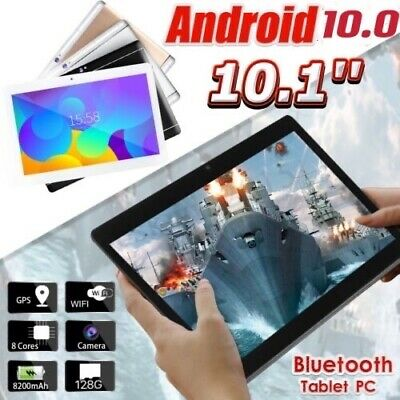 £57.99 • Buy 10.1'' Inch Tablet PC Android 10.0 8+128GB Octa Core Dual Camera SIM Phablet