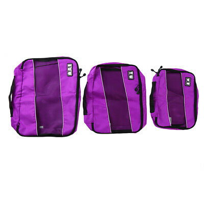 AU18.69 • Buy Packing Cubes Travel Pouches Luggage Organiser Clothes Suitcase Storage Bag Y3