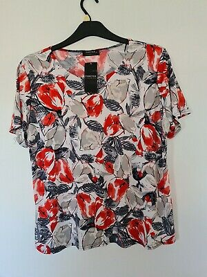 £3.99 • Buy Forever By Michael Gold Top Size XL Floral Brand New