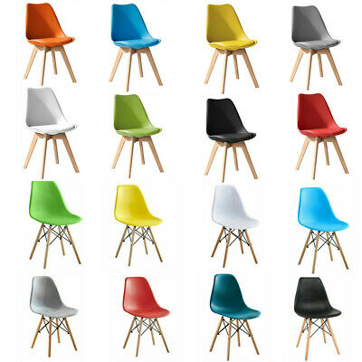 £28.90 • Buy Tulip Dining Chair Eiffel Chairs Solid Wood ABS Plastic Padded Office Seat 2021